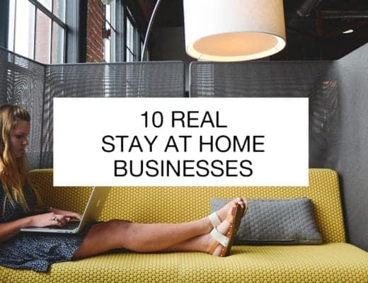 10 real stay at home businesses